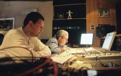 JS Simonoviez et Riccardo del Fra aux studios LaBuissonne (Crossing Life and Strings)